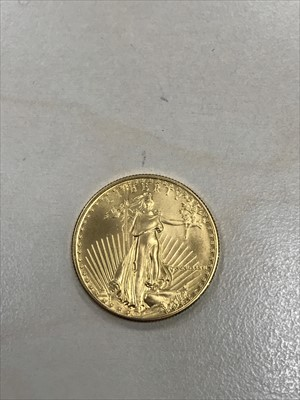 Lot 8-A GOLD USA 25 DOLLAR 1/2 OZ GOLD COIN