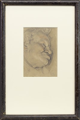 Lot 80-HEAD STUDY OF A MAN, A PENCIL AND WASH BY FREDERICK JAMES SHIELDS