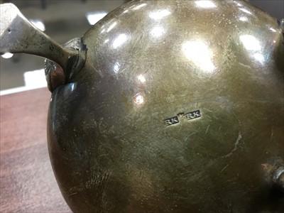 Lot 926-A SCOTTISH PROVINCIAL SILVER LIDDED CONDIMENT JAR