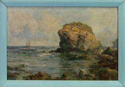 Lot 1-COASTAL VIEW, AN OIL BY JOHN FALCONER SLATER