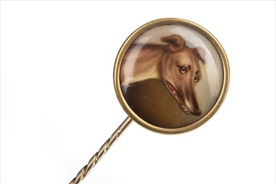 Lot 1301-RARE: A CANINE PORTRAIT PIN BY JOHN WILLIAM BAILEY