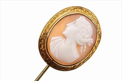 Lot 1309-A VICTORIAN CAMEO SET PIN
