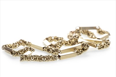 Lot 1324-A FANCY LINK CHAIN NECKLACE