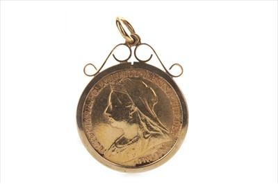 Lot 19-A GOLD HALF SOVEREIGN, 1895