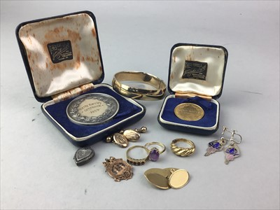 Lot 12-A LOT OF GOLD AND OTHER JEWELLERY