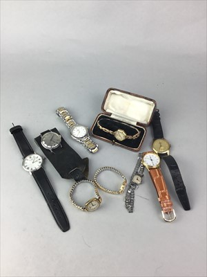 Lot 13-A LOT OF VINTAGE AND COSTUME JEWELLERY AND WATCHES