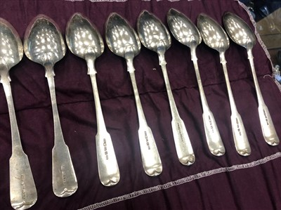 Lot 944-A SET OF TWELVE SCOTTISH PROVINCIAL SILVER SPOONS