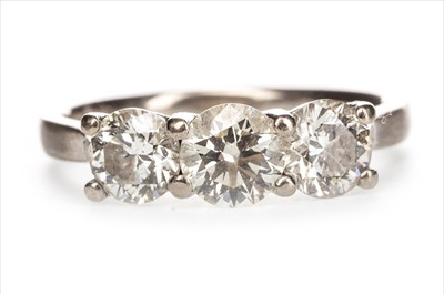Lot 1319-A DIAMOND THREE STONE RING