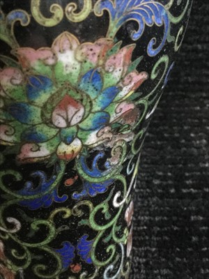 Lot 1151-A LATE 19TH CENTURY CHINESE CLOISONNE VASE