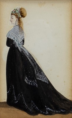 Lot 401-A PAIR OF LATE 19TH CENTURY FASHION STUDIES