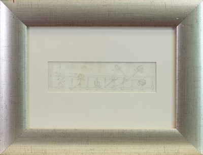 Lot 19-ROSE TRELLIS, AN INK ON VELLUM BY JESSIE MARION KING