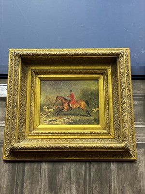 Lot 16-A PAIR OF COLOUR PRINTS, ONE DEPICTING A HUNT