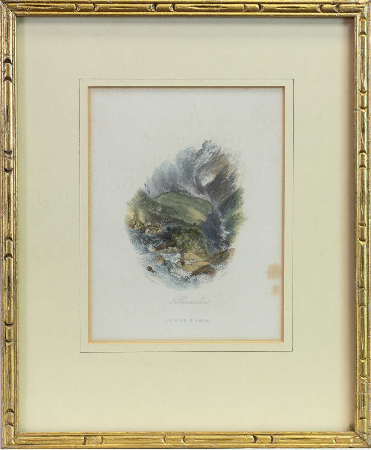 Lot 403-KILLIECRANKIE, AN ENGRAVING AFTER TURNER
