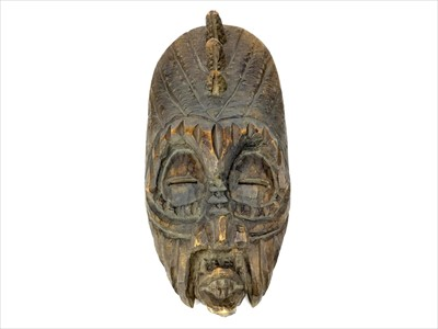 Lot 998-A 20TH CENTURY AFRICAN WALL MASK