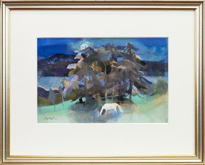 Lot 502-WHITE HORSE BY CAMPBELL RESTING PLACE, A GOUACHE BY HAZEL NAGL