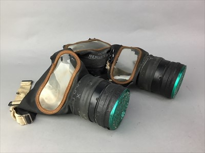 Lot 23-A LOT OF THREE BOXED WWII GAS MASKS