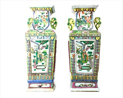 Lot 991-A PAIR OF EARLY 20TH CENTURY CHINESE FAMILLE ROSE VASES