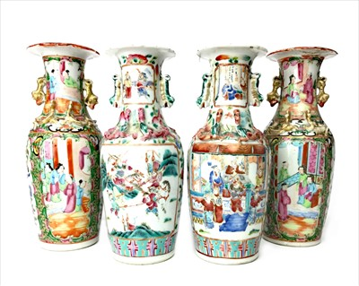 Lot 993-A PAIR OF EARLY 20TH CENTURY FAMILLE ROSE VASES