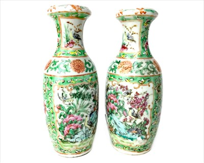 Lot 994-A PAIR OF EARLY 20TH CENTURY FAMILLE ROSE VASES