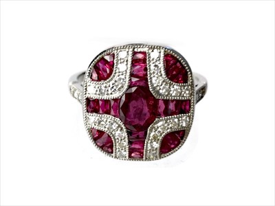 Lot 326-A RUBY, SPINEL AND DIAMOND RING