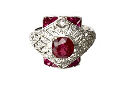 Lot 327-A RUBY, SPINEL AND DIAMOND RING