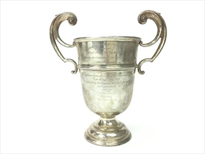 Lot 1731-A SILVER TROPHY PRESENTED BY THE RENFREWSHIRE AGRICULTURAL SOCIETY IN 1913