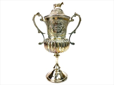 Lot 1732-A SILVER PLATED KILMACOLM AND PORT GLASGOW AGRICULTURAL SOCIETY TROPHY