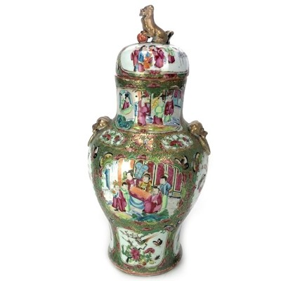 Lot 722-A CHINESE LIDDED VASE