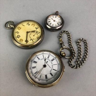 Lot 15-A FOB WATCH AND TWO POCKET WATCHES