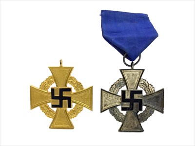 Lot 1305-A LOT OF TWO THIRD REICH GERMAN LONG SERVICE MEDALS