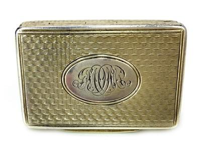 Lot 407-A VICTORIAN SILVER SNUFF BOX