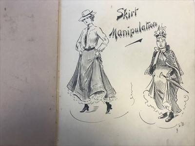 Lot 1308-AN EARLY 20TH CENTURY SKETCH BOOK