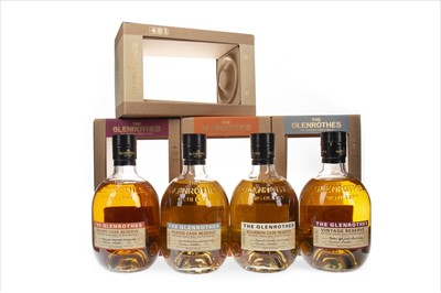 Lot 27-GLENROTHES VINTAGE, PEATED CASK, BOURBON CASK AND SHERRY CASK