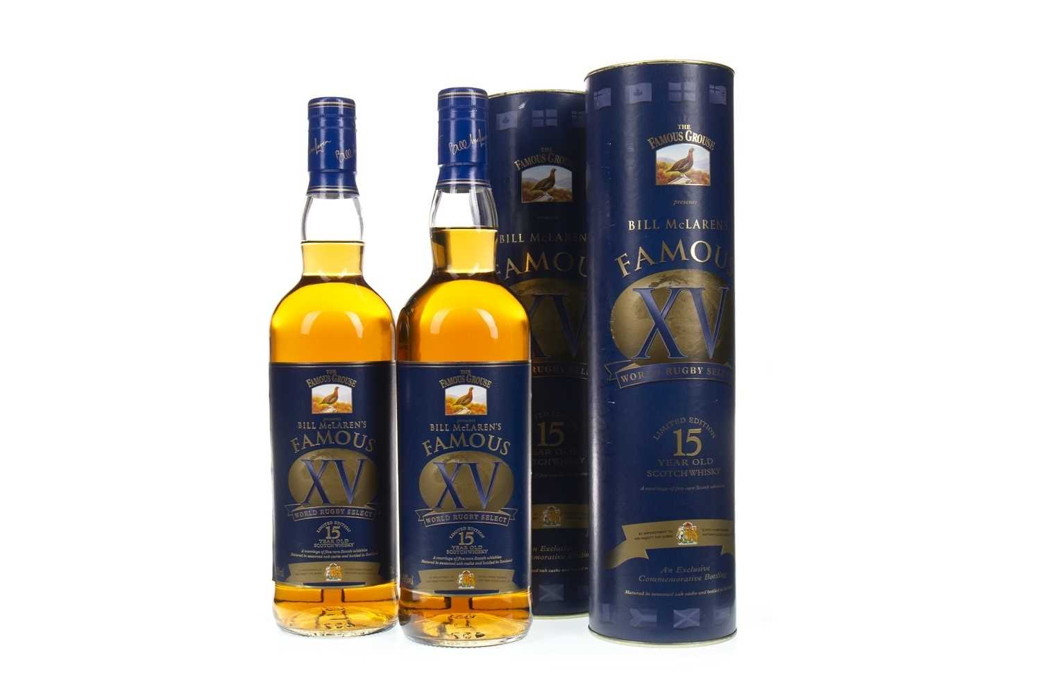 Lot 401-TWO BOTTLES OF FAMOUS GROUSE BILL MCLAREN'S FAMOUS XV 15 YEARS OLD