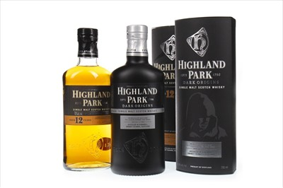 Lot 305-HIGHLAND PARK DARK ORIGINS AND AGED 12 YEARS