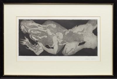 Lot 407-FLOATING, AN ETCHING BY JAMES SPENCE