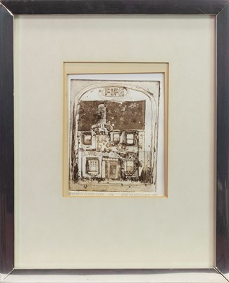 Lot 408 - GROCER'S SHOP, FIFE, AN ETCHING BY GEORGE BIRRELL