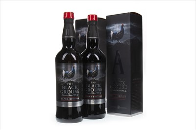 Lot 404-TWO BOTTLES OF BLACK GROUSE ALPHA EDITION
