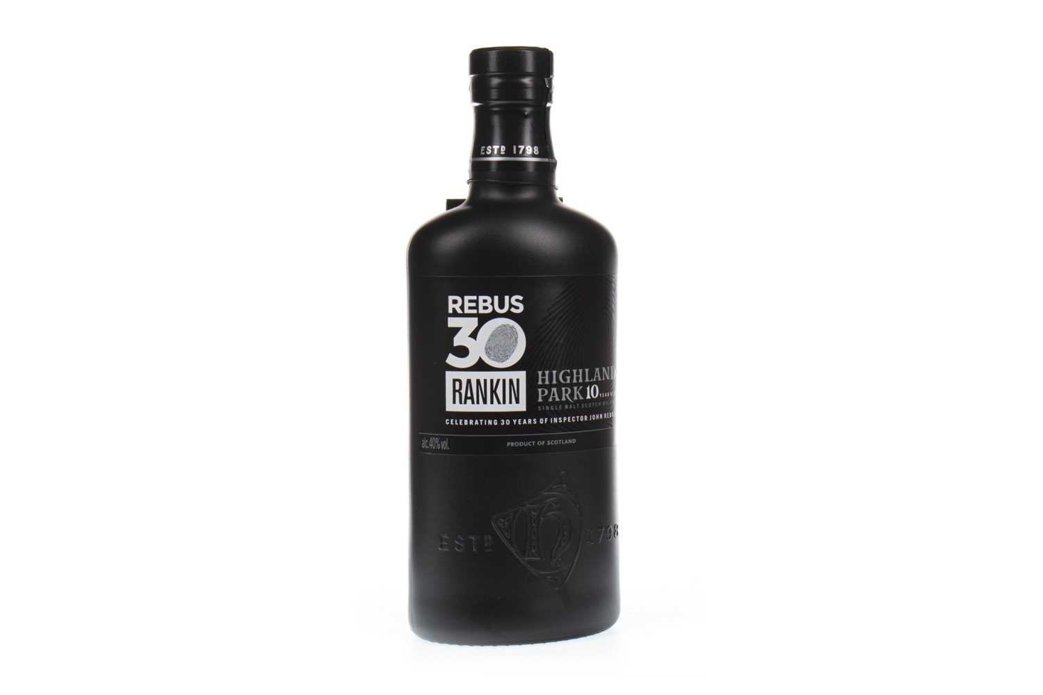 Lot 322-HIGHLAND PARK REBUS 10 YEARS OLD