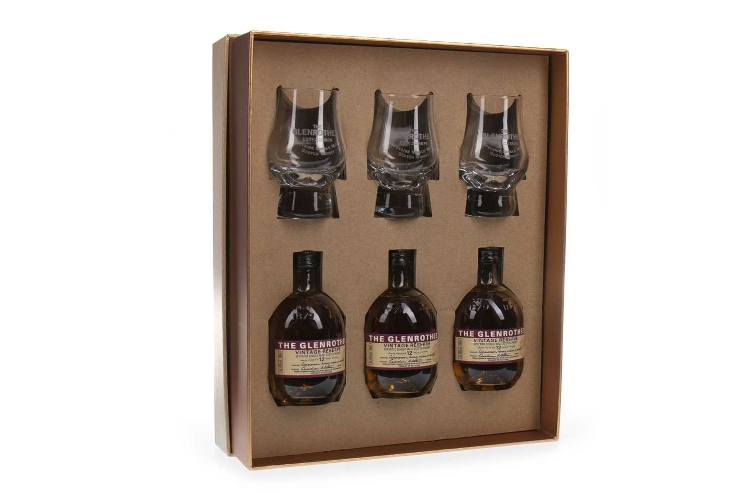Lot 313-GLENROTHES VINTAGE RESERVE 12 YEARS OLD GIFT PACK (3X100ML)
