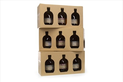 Lot 314-NINE 100ML BOTTLES OF GLENROTHES