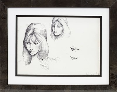 Lot 664-FIONA, EARLY BIRO SKETCHES BY PETER HOWSON
