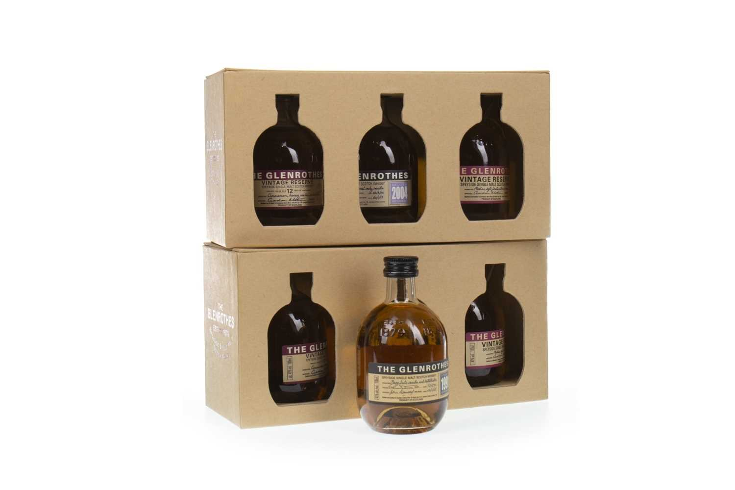 Lot 315-SEVEN 100ML BOTTLES OF GLENROTHES
