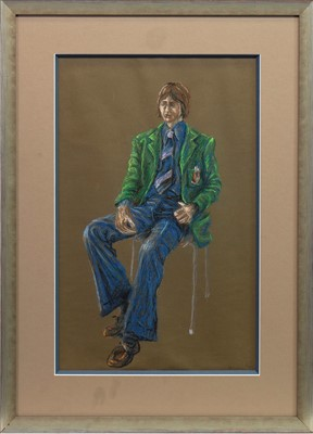 Lot 606-AN EARLY PASTEL BY PETER HOWSON