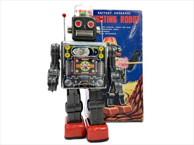 Lot 1309-AN S.H. OF JAPAN BATTERY OPERATED FIGHTING ROBOT