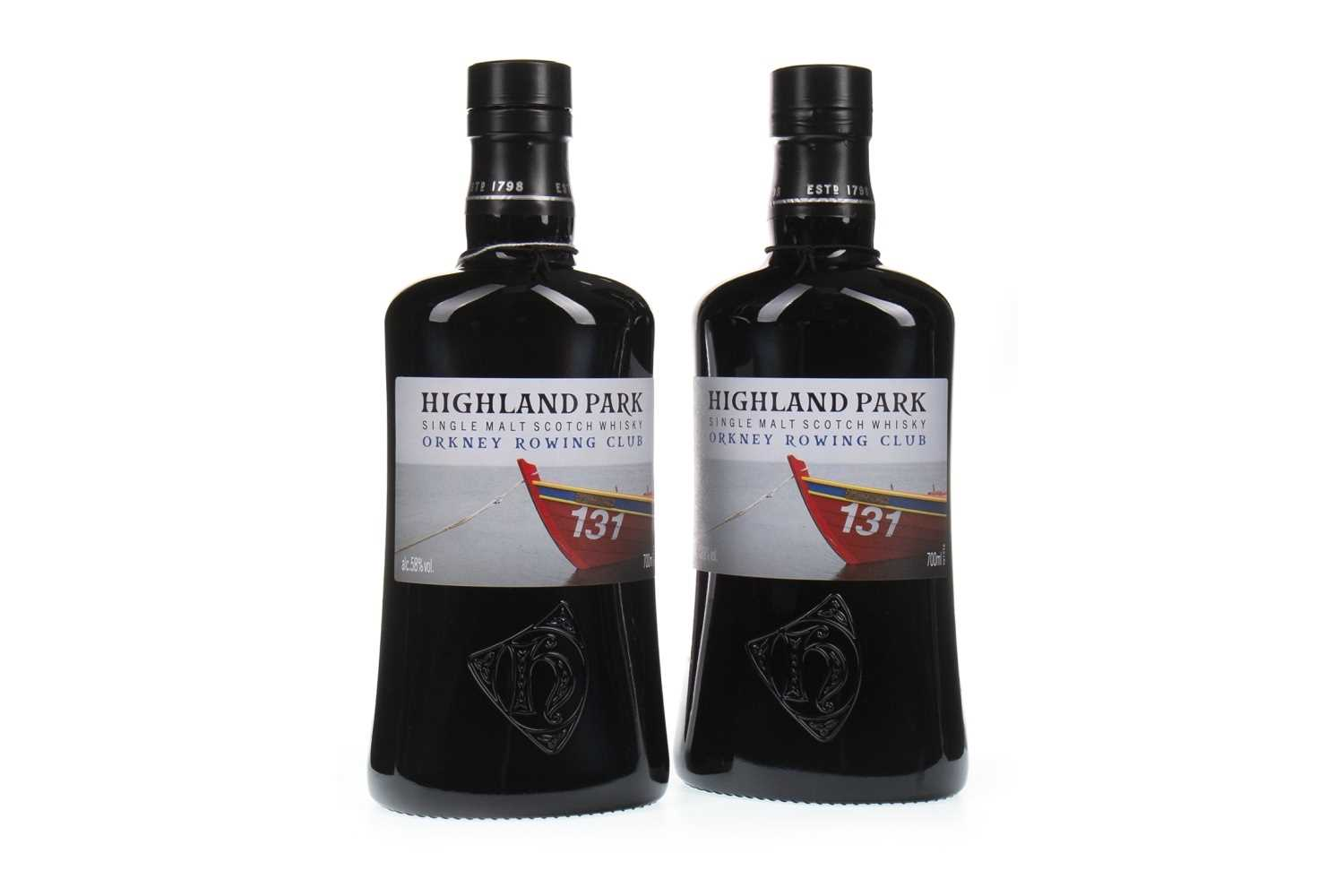 Lot 316-TWO BOTTLES OF HIGHLAND PARK ORKNEY ROWING CLUB