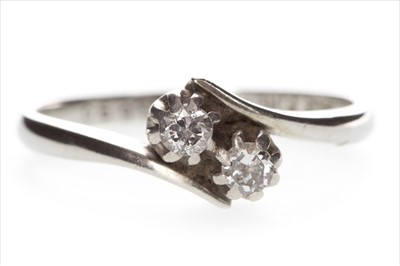 Lot 308-A DIAMOND TWO STONE RING