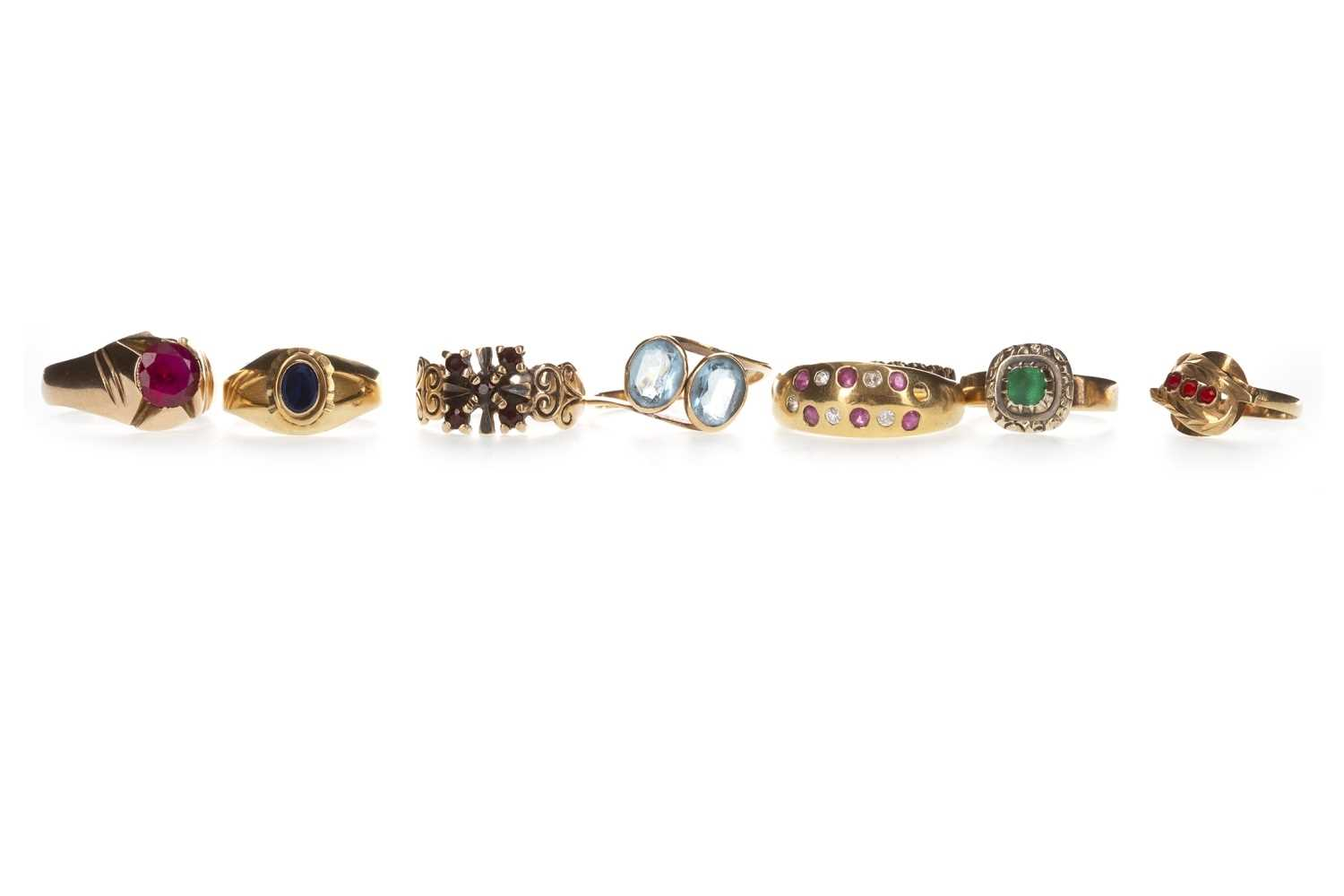 Lot 309-A COLLECTION OF GEM SET RINGS