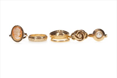 Lot 310-A COLLECTION OF RINGS