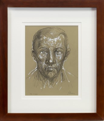 Lot 510-THE MISER, A MIXED MEDIA BY PETER HOWSON